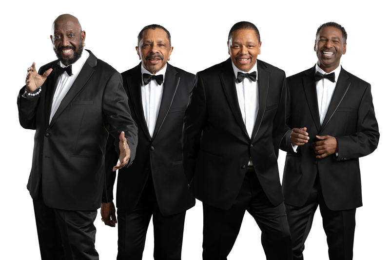 Temptations group photo in black tuxes. Photo Cred: Jay Gilbert
